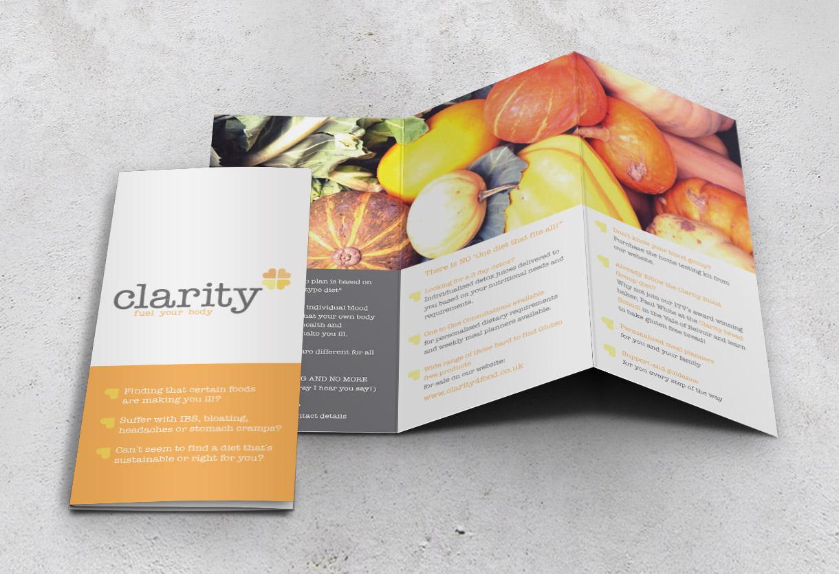 Clarity Leaflet Design & Print
