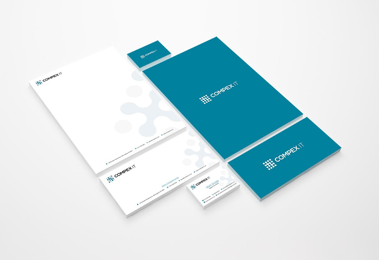 Compex IT stationery design & print