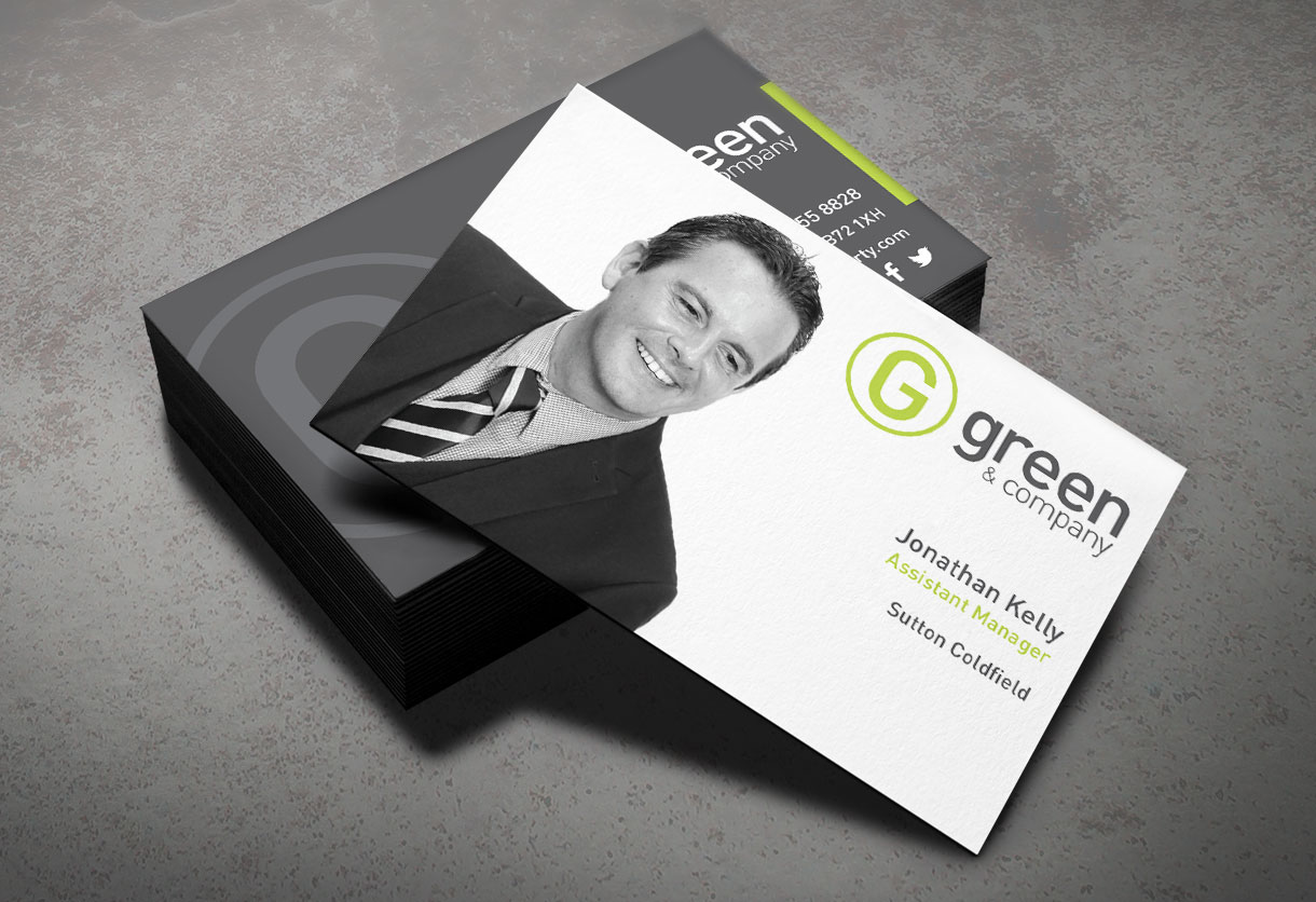 Green & Co Business Card design