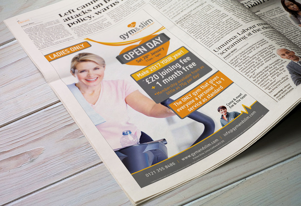 Gym and slim advert design