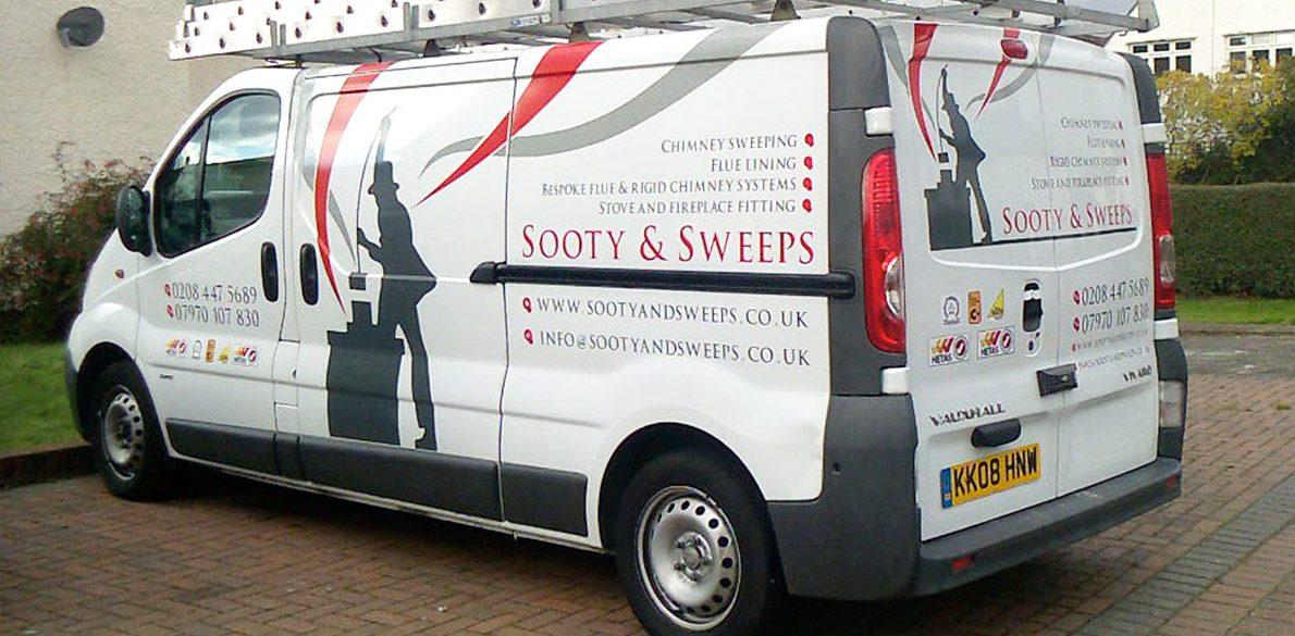 Sooty & Sweeps Van graphics