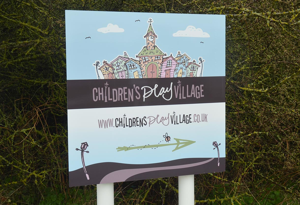 The Childrens Play Village Main Sign