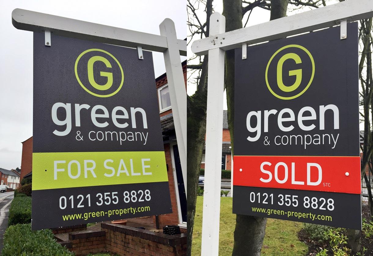 Green & Co Sale boards
