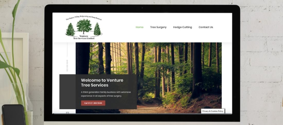 venture tree services website