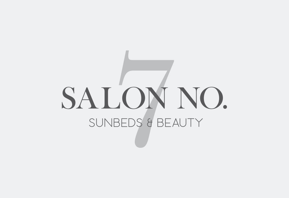 Salon No 7 logo design