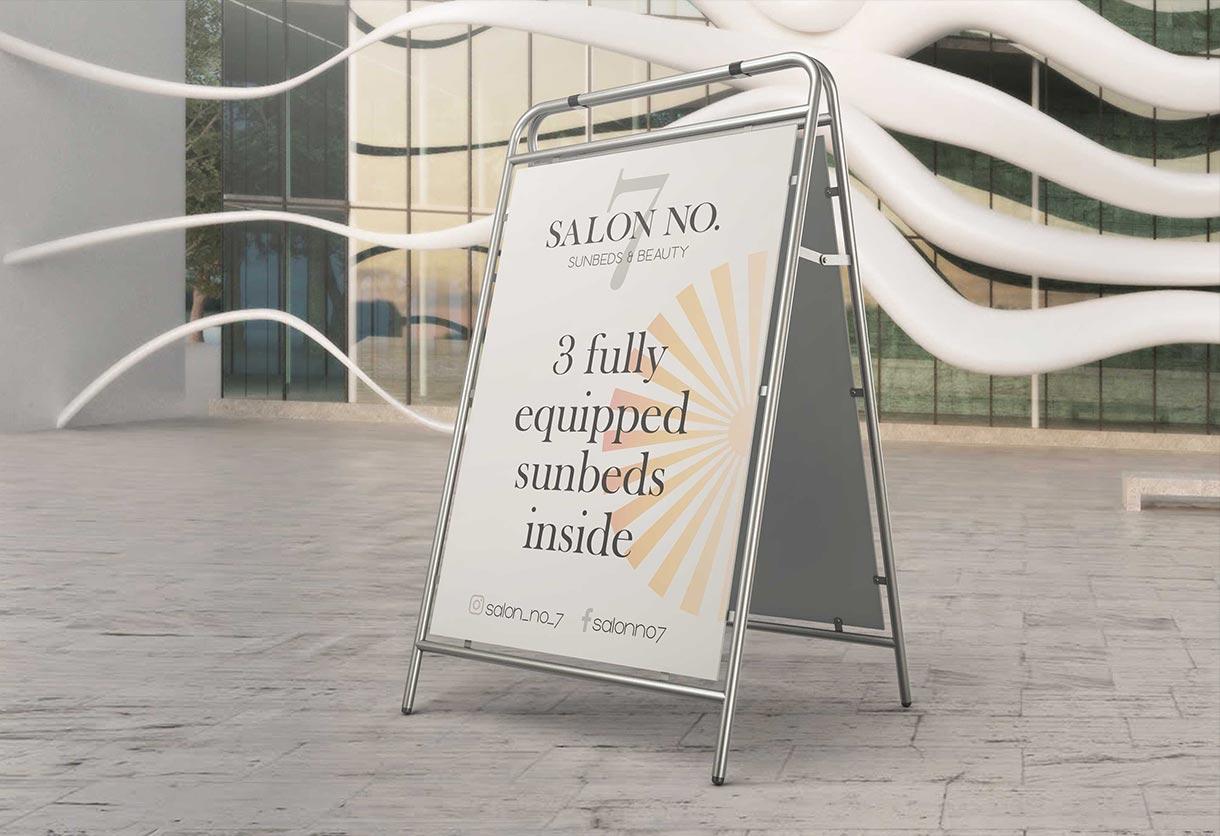Salon No 7 A-Board design and print