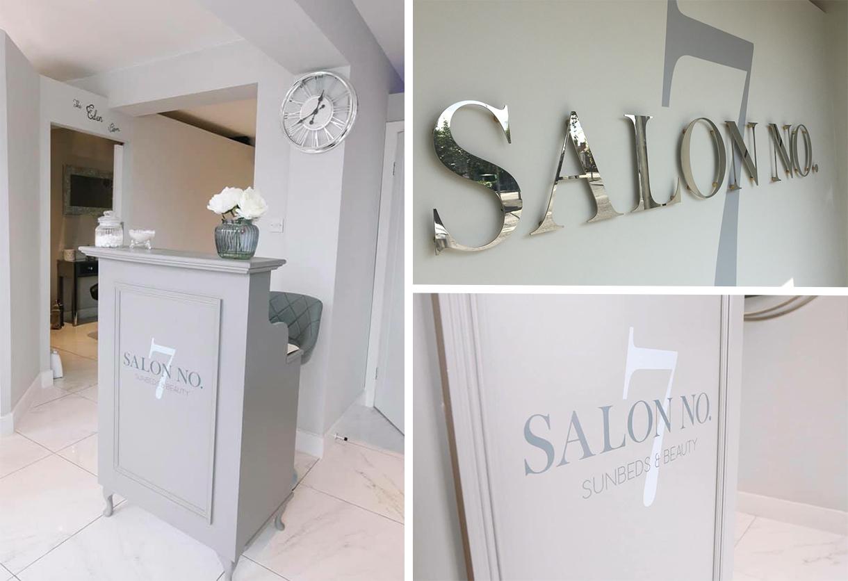 Salon No 7 Sign Montage